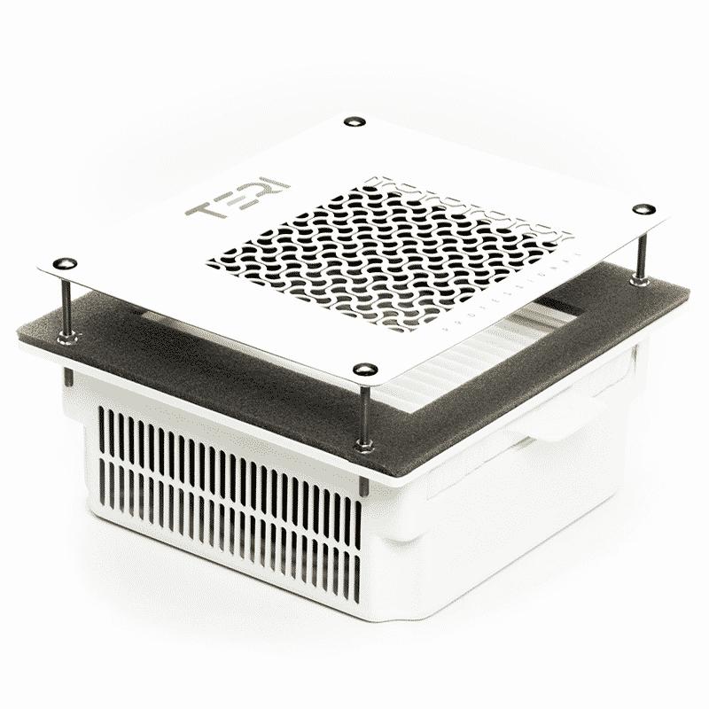 Встраиваемая в стол маникюрная вытяжка Teri 600 с сеткой белого цвета