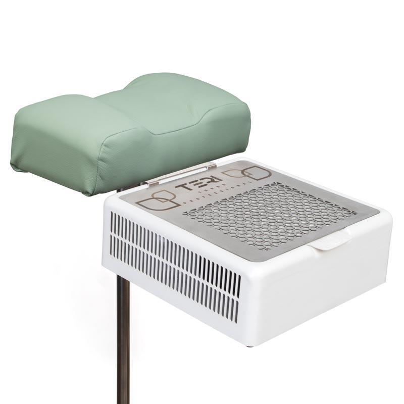 Подставка для педикюра с мягкой подушкой и настольная вытяжка Тери Турбо