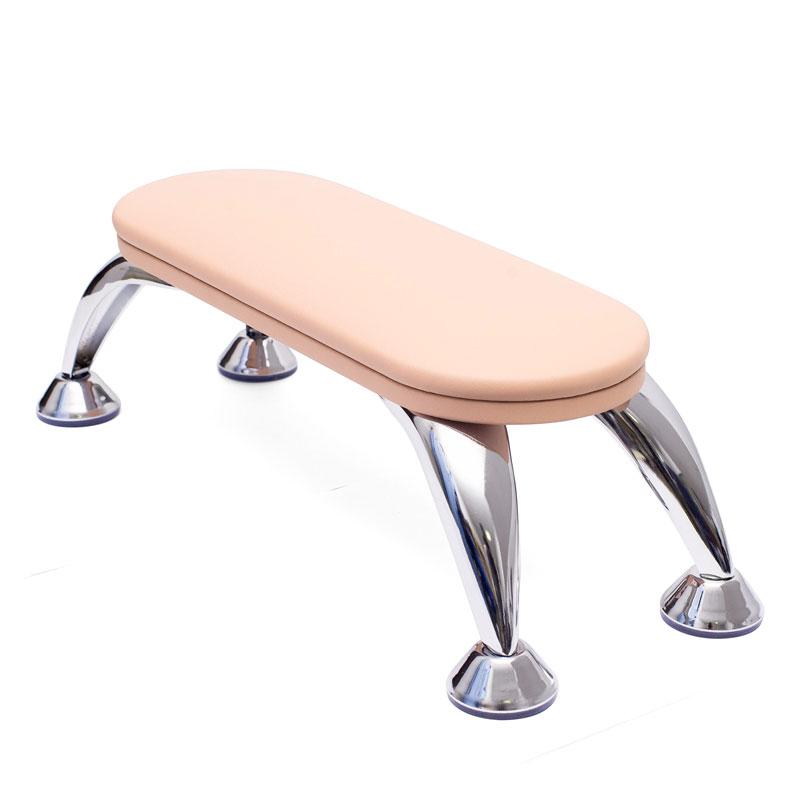 подставка для рук на металлических ножках подушка розового цвета